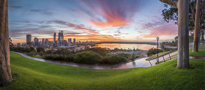 Perth and Swan River from Kings Park